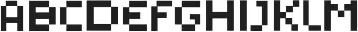Pixelated Display Regular otf (400) Font UPPERCASE