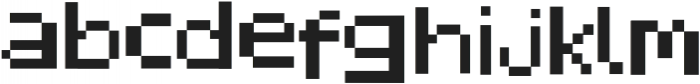 Pixelated Display Regular otf (400) Font LOWERCASE