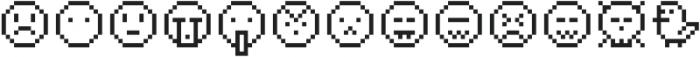 Pixie Extra Smileys otf (400) Font UPPERCASE
