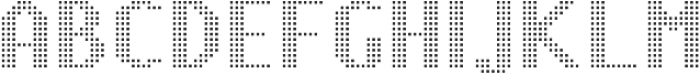 Pixie Sans Bold Dots otf (700) Font UPPERCASE