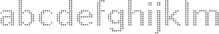 Pixie Sans Regular Dots otf (400) Font LOWERCASE