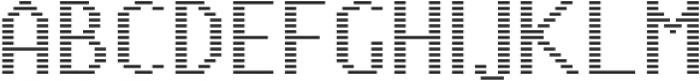 Pixie Sans Regular Lines otf (400) Font UPPERCASE