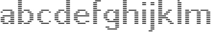 Pixie Sans Regular Lines otf (400) Font LOWERCASE