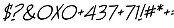 Piekos FX BB Thin Italic Font OTHER CHARS