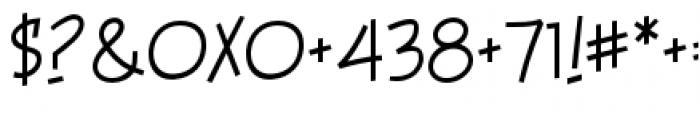 Piekos FX BB Thin Font OTHER CHARS