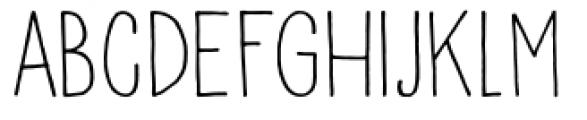 Pisang Regular Font LOWERCASE