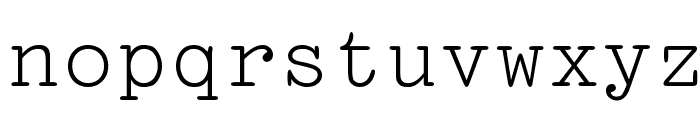 Pica Font LOWERCASE