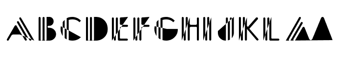 Picadilly Bizarre Font UPPERCASE