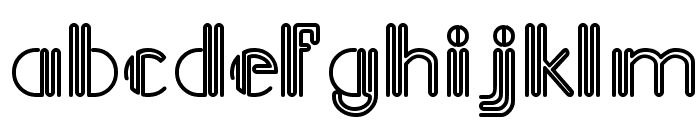 Picadilly Font LOWERCASE