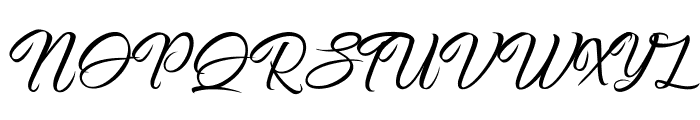 Pictorial Signature Font UPPERCASE