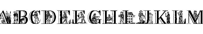 Picture Alphabet Font UPPERCASE