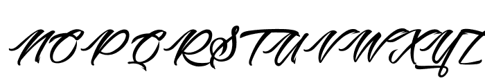 Picture of the Romantic Font UPPERCASE
