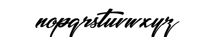 Picture of the Romantic Font LOWERCASE