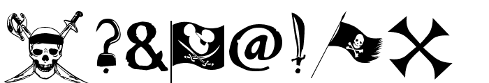 Pieces of Eight Font OTHER CHARS