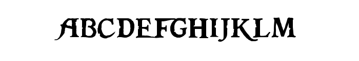 Pieces of Eight Font LOWERCASE