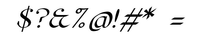 Pierce Oblique Font OTHER CHARS