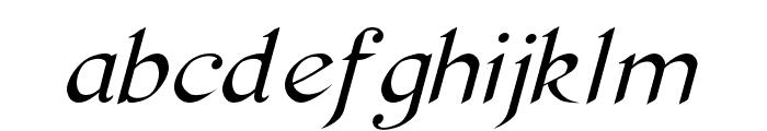 Pierce Oblique Font LOWERCASE