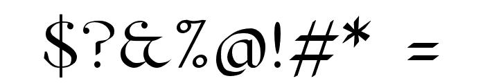 Pierce Roman Font OTHER CHARS