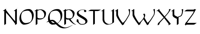 Pierce Roman Font UPPERCASE