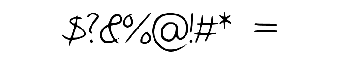 Pigeon_scribble Font OTHER CHARS