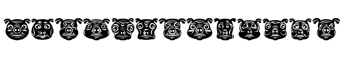 Pigs Regular Font LOWERCASE