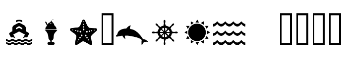 PiktoTea Regular Font LOWERCASE