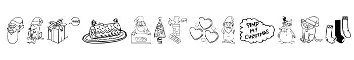 Pimp My Christmas Font UPPERCASE