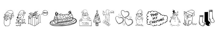 Pimp My Christmas Font LOWERCASE