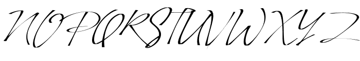 PinSign Font UPPERCASE