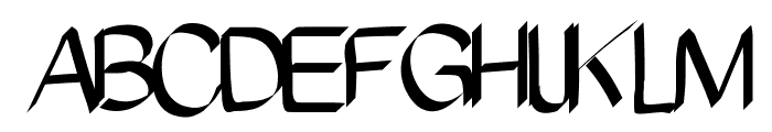 Pinceau Font UPPERCASE