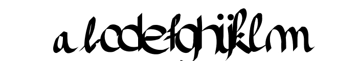 Pinceau Font LOWERCASE