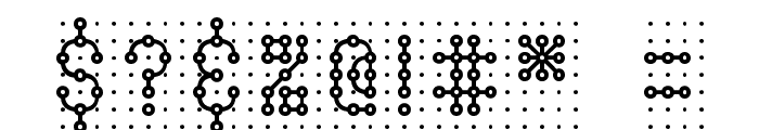 Pindown Plain BRK Font OTHER CHARS