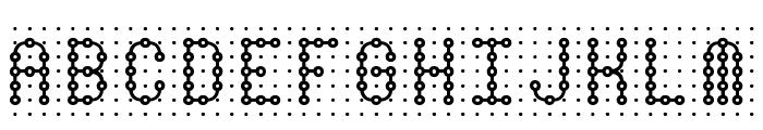 Pindown Plain BRK Font UPPERCASE