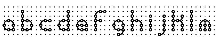 Pindown Plain BRK Font LOWERCASE