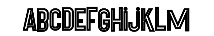 Pineapple Bold Inline Font LOWERCASE