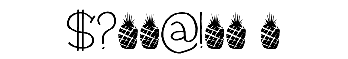 Pineapple Daydream DEMO Regular Font OTHER CHARS