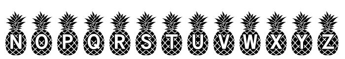 Pineapple_Mono Font UPPERCASE