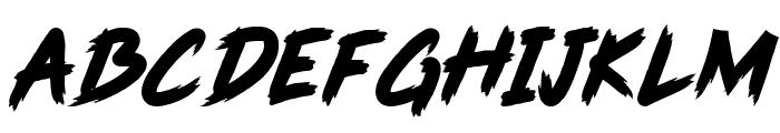 Pink Blue Font UPPERCASE