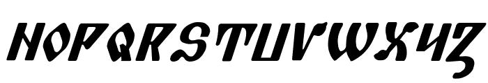 Piper Pie Bold Italic Font UPPERCASE