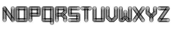 Pipes Abstract Regular Font UPPERCASE