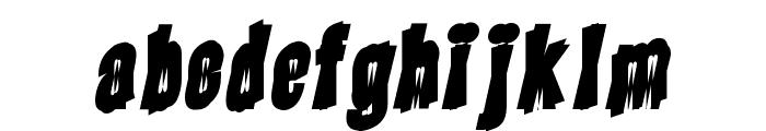 Piranha Font LOWERCASE