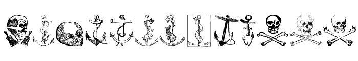 Pirates Two Font UPPERCASE