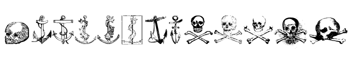Pirates Two Font LOWERCASE
