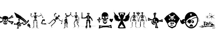 PiratesThree Font UPPERCASE