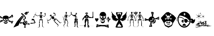 PiratesThree Font LOWERCASE