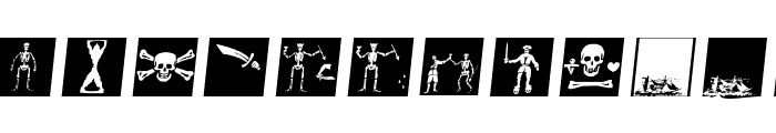 PiratsSymbolsArtefacts Font LOWERCASE