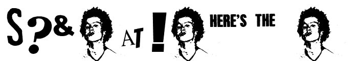 PistOl Sex Punk Font OTHER CHARS