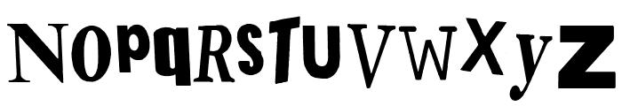 PistOl Sex Punk Font LOWERCASE