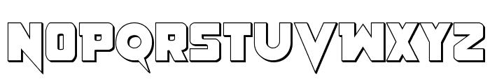 Pistoleer 3D Regular Font UPPERCASE