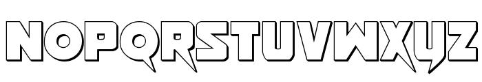 Pistoleer 3D Regular Font LOWERCASE